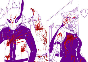 3 Naruhina Hotline Miami Massacre by mattwilson83