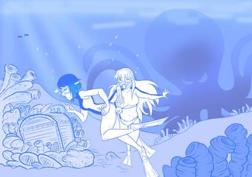 2 Ruby and Kimmi undersea treasure by mattwilson83