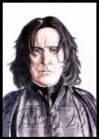 Severus Snape portrait Ballpoint Pen by Angeliqueperrin