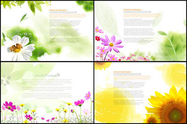 Asadal Flowers Design psd by coolwing