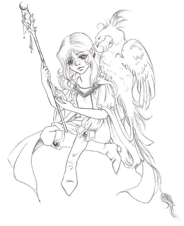 .:: elven girl ::. by HypnoticRose