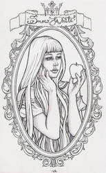 WIP Snow White - lineart by HypnoticRose