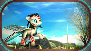 SFM   Pony   The sky wings... by ElectedPony