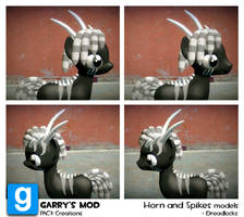PAC3   MLP  Horns and spikes model + Dreadlocks by ElectedPony