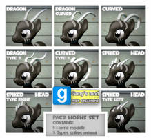 PAC3 | MLP| Horns and spikes set by ElectedPony