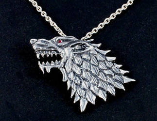 Game of Thrones direwolf pendant by virtualmorrigan