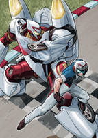 Speed and the Mech 5 colored by REX-203