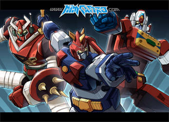 Mekanda, Voltes, and Daimos by REX-203