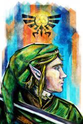 Link Digital Painting from Legend of Zelda by studiomuku