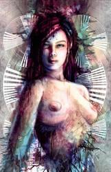 The Gatekeeper of Chronos Digital Painting by studiomuku