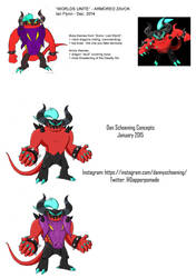 Unused Worlds Unite Concepts - Armored Zavok by IanFlynnBKC