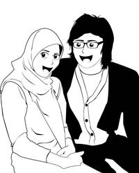 my baby and me BW by spiderio