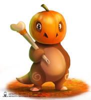 Pokectober - Pumpkinbone by ArtKitt-Creations