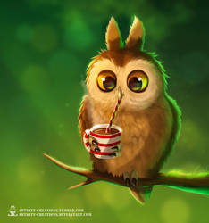 Cocoa Owl by ArtKitt-Creations