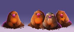 Pokemon - Diglett line by ArtKitt-Creations