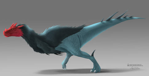 Concept - Theropod Dinosaur by ArtKitt-Creations