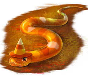 Candy Corn Snake by ArtKitt-Creations