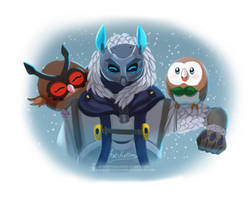 Snow Ana with Owlies by ArtKitt-Creations