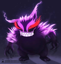 Kanto - Gengar by ArtKitt-Creations