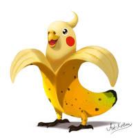creature doodle #19 banana cockatiel by ArtKitt-Creations