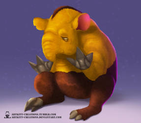 Kanto - Drowzee by ArtKitt-Creations