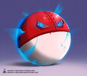 Kanto - Voltorb by ArtKitt-Creations