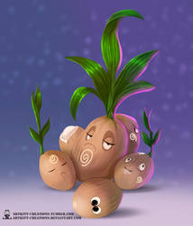 Kanto - Exeggcute by ArtKitt-Creations