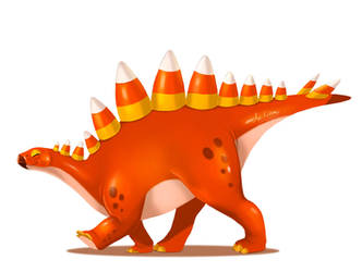 October Dinos - Candy Stegosaur by ArtKitt-Creations