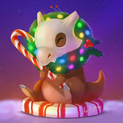 Winter Cubone by ArtKitt-Creations