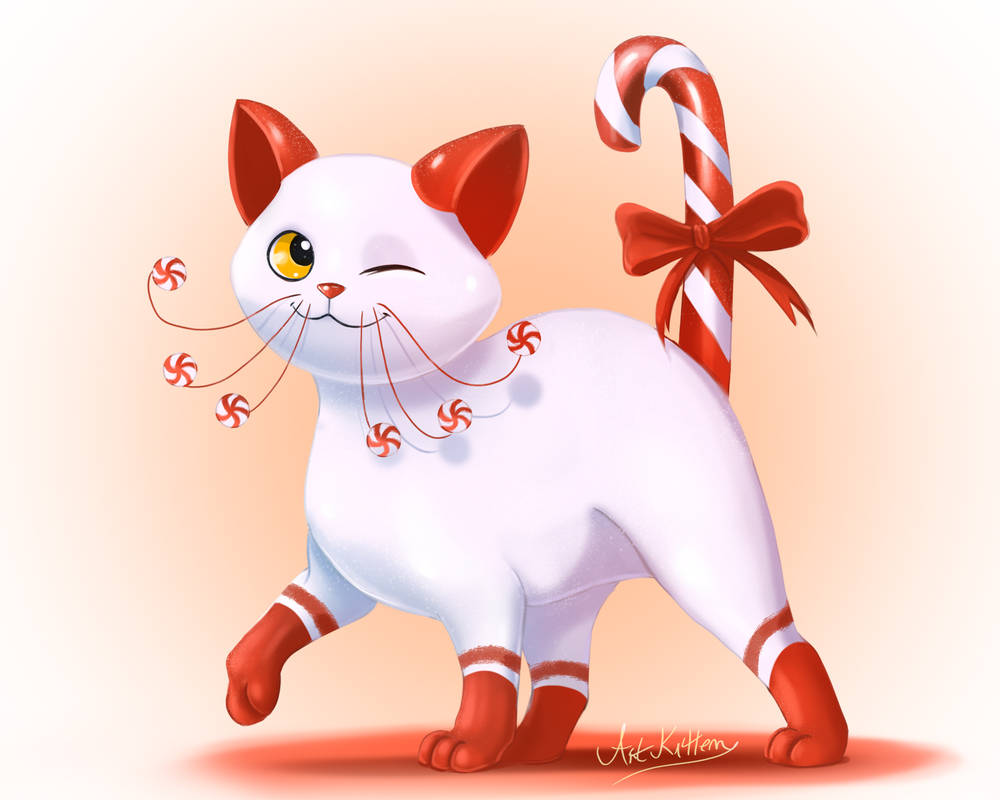 Peppermint Kitty by ArtKitt-Creations