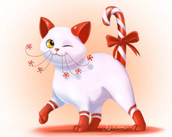 Peppermint Kitty by ArtKitt-Creations