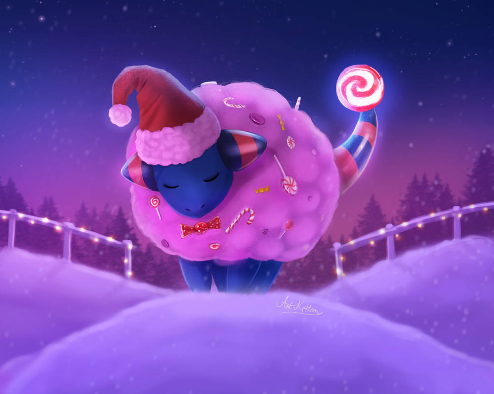 Sugar-Coated Mareep by ArtKitt-Creations