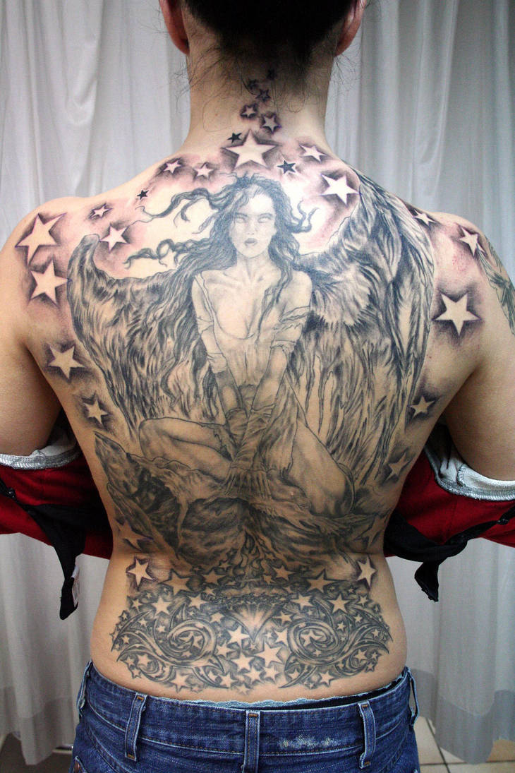 Angel Wings finished Tattoo by 2Face-Tattoo