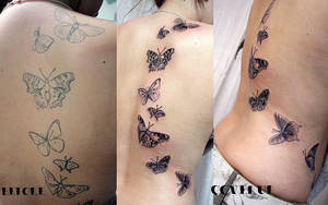 Cover up Butterflies Tattoo by 2Face-Tattoo
