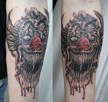 Red Nose Evil Clown by 2Face-Tattoo