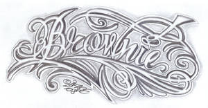 Chicano Letter Nickname by 2Face-Tattoo