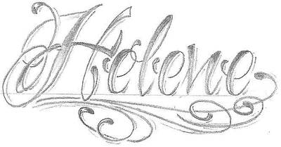 chicano lettering name by 2Face-Tattoo