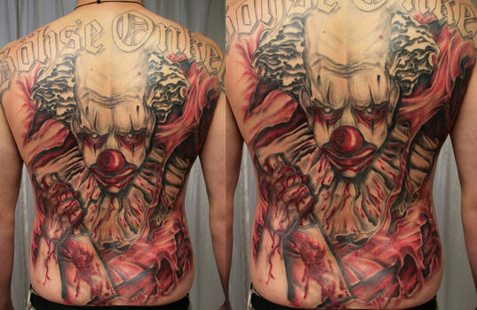 BO back clown color 1 by 2Face-Tattoo