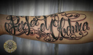 chicano script latin tat by 2Face-Tattoo