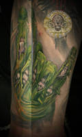 Zombie hand Rock n roll final by 2Face-Tattoo