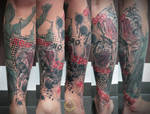 No hear no speak  evil justicia by 2Face-Tattoo