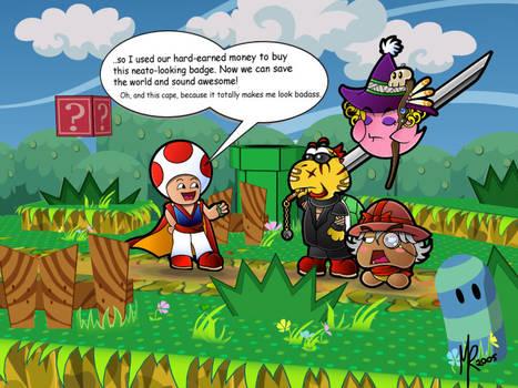 Paper Mario tTYD- 4 Heroes by pixlem
