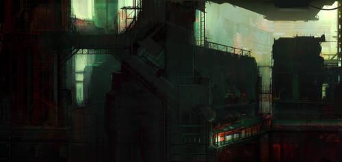 Futuristic City 001 by cesarsampedro