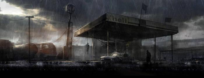 Petrol Station by cesarsampedro