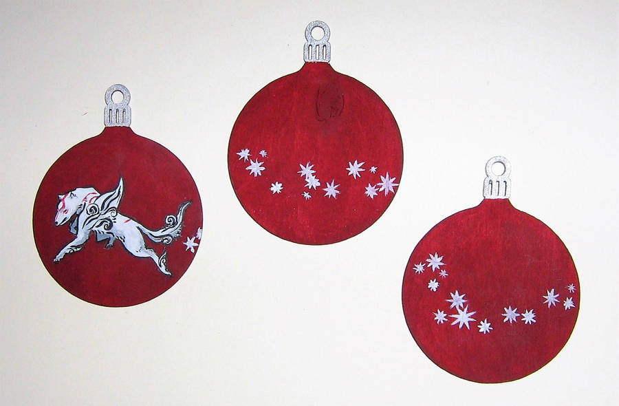 Okami Christmas Tree Decorations By Smilestack On Deviantart