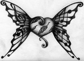 music wings by creepy-freya