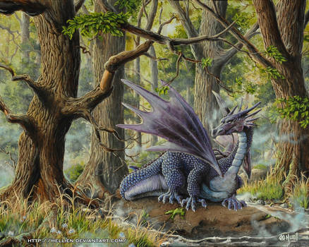 Forest Dragon by Hellien