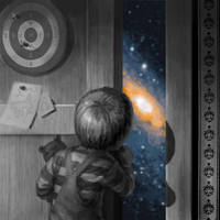 Universe at the closet-door by EvilPirate