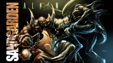 Alien vs Ido by EvilPirate