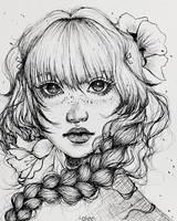 Flower girl 03 by Aoleev